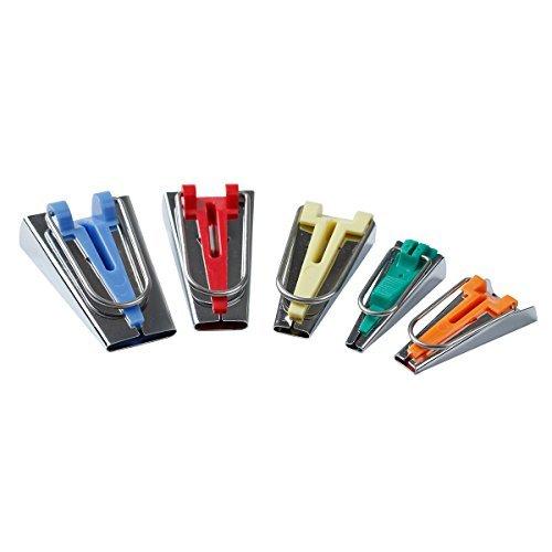 HONEYSEW Bias Tape Maker Set 6MM/9MM/12MM/18MM/25MM 50MM 5 Sizes DIY Quilting Tools Kit (5 Size Set)