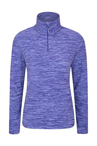 Mountain Warehouse Snowdon Damen-Fleecejacke - Antipill, Leichter Pullover, halber Reißverschluss, atmungsaktives Sweatshirt, schnelltrocknend - zum Wandern, Reisen Marineblau 38