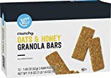 Amazon Brand - Happy Belly Crunchy Oats & Honey Granola Bars, 1.48 Ounce (Pack of 12)