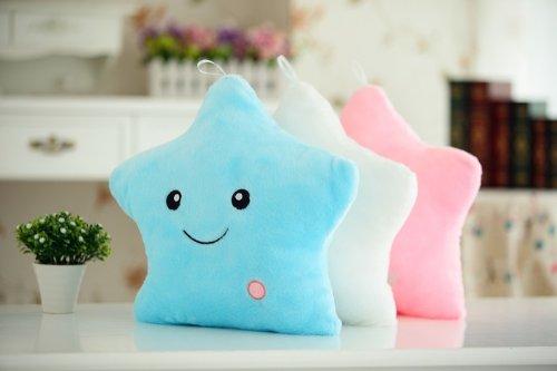 ounona Creative Glowing LED Twinkle Star forma almohada de peluche juguete de...