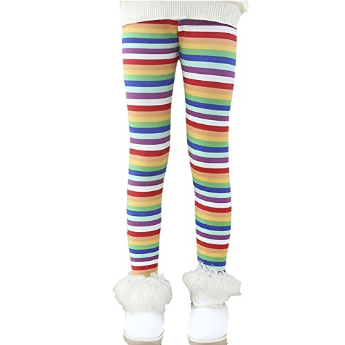 Baby Toddler Kids Thick Lined Warm Cotton Knit Stretchy Long Tights Pants for 0.5-4 Years Winter Girls Fleece Legging Pants