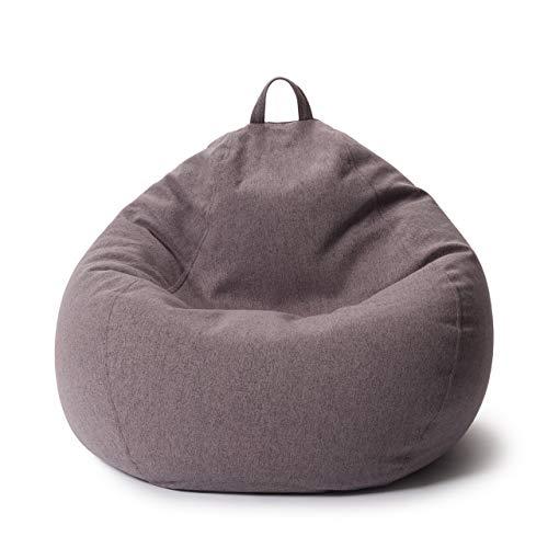 Lumaland Comfort Line XL Sitzsack Indoor - 90x110x50 cm - Bodenkissen, Bean Bag Chair - 250 L - EPS Perlen Füllung - Dunkelgrau
