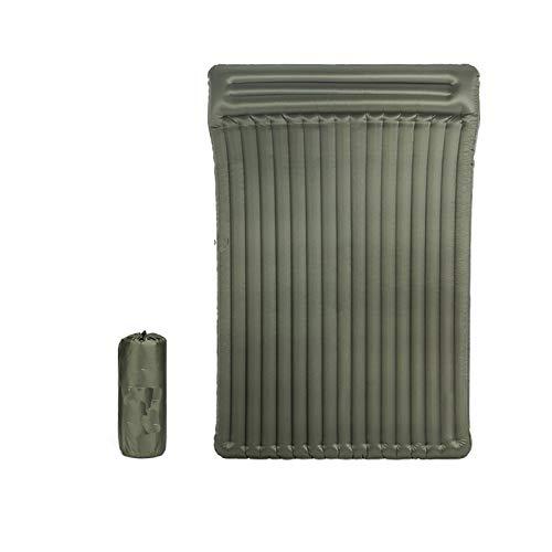 BENOHAOH Almohadilla de Dormir Inflable de Nylon con colchón de Aire Almohada Almohadilla a Prueba de Humedad, Cama Inflable Plegable, Adecuado para Senderismo mochilero (Color : Double Widened)