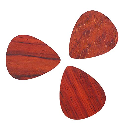 Bnineteenteam 3 Piezas Rosewood Guitar Pick, Guitarra Wood Plectrum para Guitarra eléctrica acústica bajo