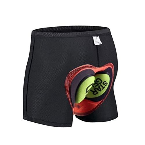 DFYUTJ Unisex Pantalones Cortos de Ciclista 3D de Silicona sillín Acolchado Interior...