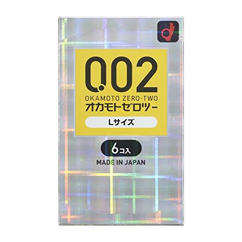 Okamoto 0.02 EX Polyurethane Condom 6pc   Large Size (japan import)