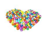 HANBIN 10 Piezas Bola de Color Adecuado para Tiendas de Campa?a no tóxico Bola Suave Piscinas Interiores Juguete para bebés Exteriores Bola del océano 5.5cm