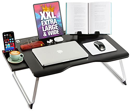 Cooper Mega Table [XXL Extra Large - Premium Build] Folding Bed Desk, Lap Desk & Laptop Table |...