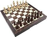 HYJMJJ Ajedrez de Madera Set de Viaje Chess International Set Plegable de plástico con Tablero de ajedrez magnético Tablero portátil Tablero de Viaje Juego niños Conjunto de ajedrez portátil