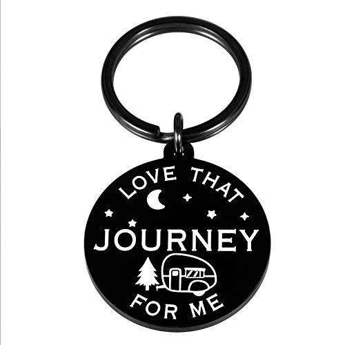 Love That Journey for Me Keychain for Best Friend Couple Schitts C Merchandise Inspired Gifts for Women Men Girlfriend Boyfriend Him Her Valentine's Day Birthday Wedding Christmas Graduation Jewelry