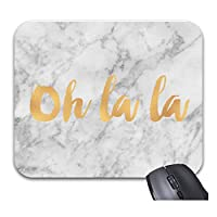 グレーゴールドマーブルオララファッション・トレンドマウスパッドトレンディなオフィスデスクトップアクセサリー