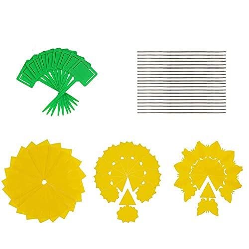 NIDONE Trampa para Insectos Insectos De Plástico Amarillo Junta De Doble Pegajosa Insectos Junta Fly Trap