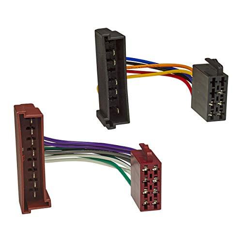 tomzz Audio 7015-001 Radio Adapter Kabel kompatibel mit Ford, Mazda 121, Jaguar auf 16pol ISO Norm