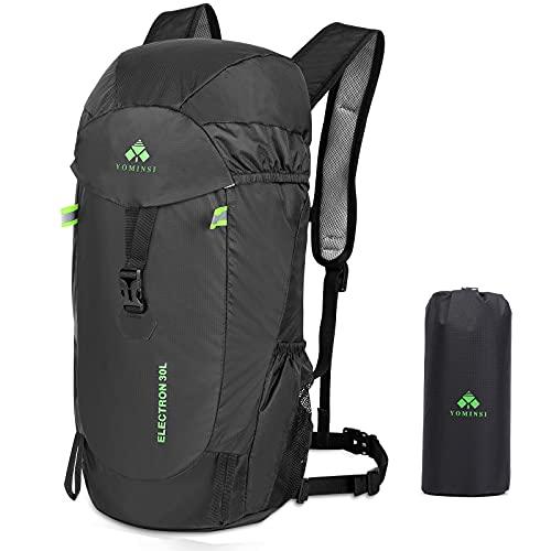 YOMINSI Rucksack Wanderrucksack 30L Trekkingrucksack Faltbare Leicht Outdoor Daypack...
