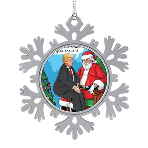 HYTRG Christmas Ecards President Donald Trump Funny Ecards Xmas Trees Snowflake Ornaments Colorful Christmas Photo Accessories Collectible