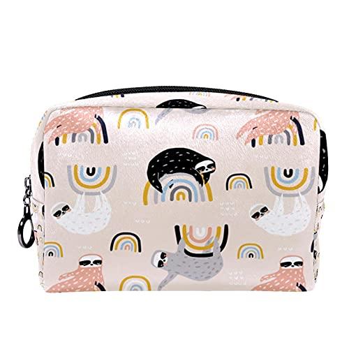 Bolsa de Maquillaje Bolsas de cosméticos de Viaje portátiles, Infantil con Perezosos