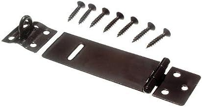 2 x HASPS & nietjes vangsten voor hangsloten Light Duty Zwart 75MM