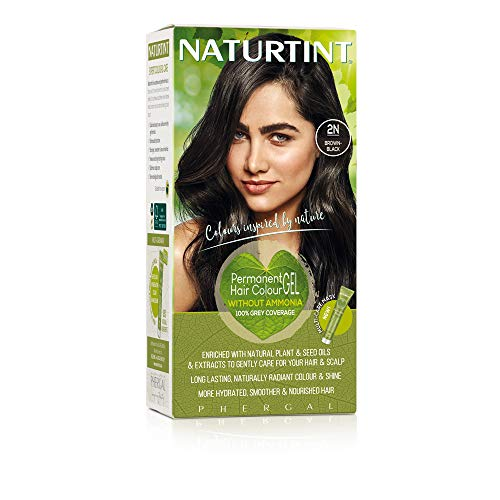 Naturtint Permanent Hair Color 2N Brown Black (Pack of 1), Ammonia Free, Vegan, Cruelty Free, up to 100% Gray Coverage, Long Lasting Results