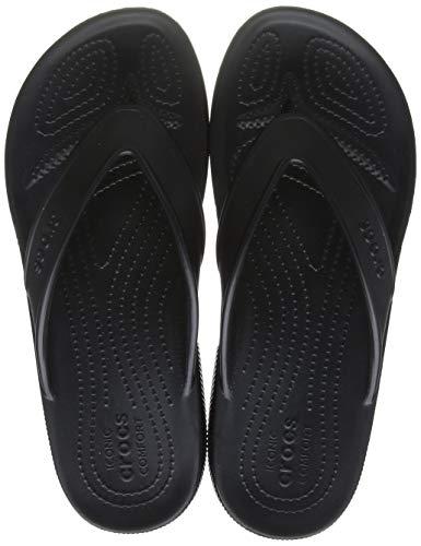 Crocs Classic II Flip Flop|Casual Beach Shower Shoe Sandal, Black, 8 US Women / 6 US Men M US