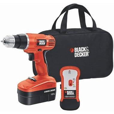 BLACK+DECKER GCO18SFB 18-Volt Ni-Cad 3/8-Inch Cordless Drill/Driver with