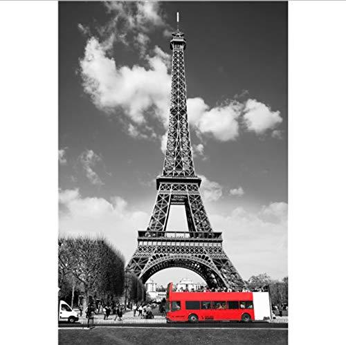 DPFRY Cuadros En Lienzo Torre Eiffel En Blanco Y Negro London Eye Wall Art Lienzo Pintura Modular Carteles E Impresiones Nórdicos Cuadros De Pared para Sala De Estar 40X60Cm Rt5A Sin Marco