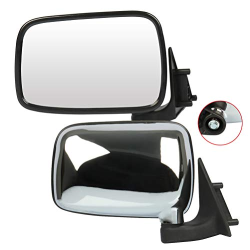 Cciyu Espejos laterales exteriores del lado del conductor y del pasajero con ajuste manual de ajuste…