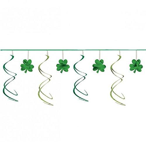 amscan Guirlande trèfles Saint Patrick - Taille Unique