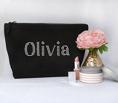 Personalisierbare Strass-Kosmetiktasche, Waschtasche, für Geburtstag, Muttertag, für Kinder, perfektes Geschenk für alle Anlässe