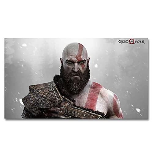 Dabbledown Cuadro de Lienzo Póster del Juego God of War Kratos Ps4, Imagen artística de Pared de Kratos, hogar, Bar, cafetería, habitación, Dormitorio, decoración de Pared, Impresiones 60X90CM