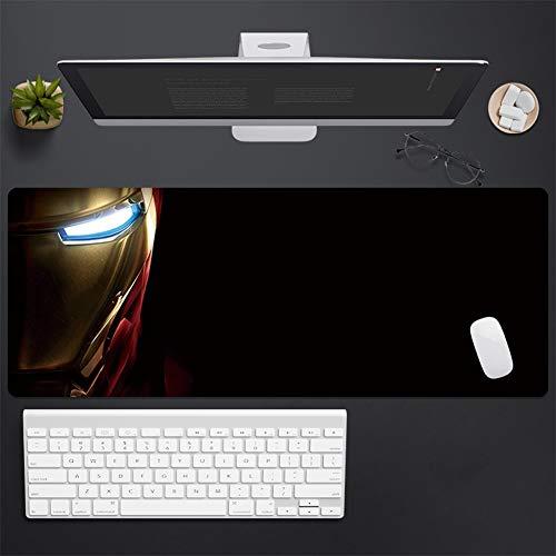 CSQHCZS-SBD Anime-spel grote muismat tafelkleed, Avengers Iron Man geavanceerde toetsenbordpad, rubber antislip onderkant zitting, voor spelen/computer-desktop +++++ +