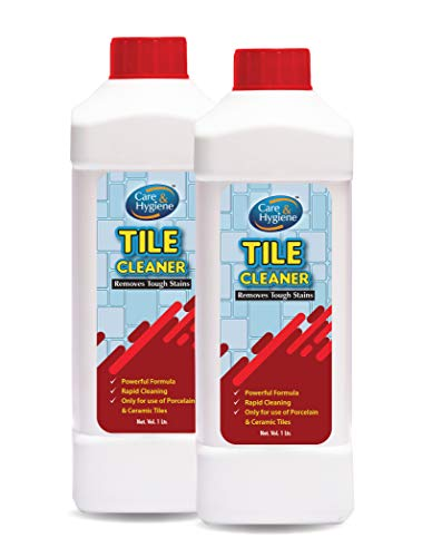 Care And Hygiene Tile Cleaner 1ltrs,Red, (Pack of 2) Descaler, Removes Heavy Stains from Tiles and Ceramics