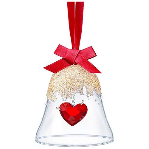 Swarovski Campana natalizia a forma di cuore, in cristallo, multicolore, 8,7