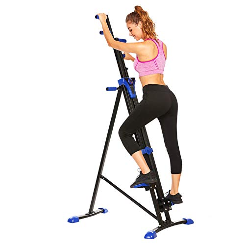ANCHEER Climber,Vertical Climber for Home Use,Indoor Folding Climbing Machine with Adjustable Height & LCD Display,for Home,Office and Gym,Simple Assembly