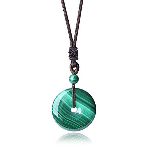 Collar Ajustable con Colgante En Jade - Protección/Curación