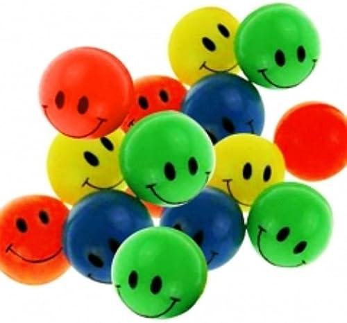 100 Smiley Flummis 45mm Lachgesicht Gummiball Springball