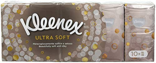 Kleenex Ultra Soft amp Strong Facial Tissues Pocket Pack 9 ct 10 Pack