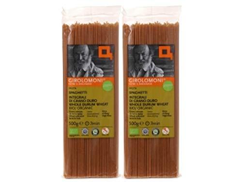 ジロロモーニ 全粒粉デュラム小麦 有機スパゲッティ 500g×2個★送料無料 宅配便★有機栽培デュラム小麦を丸ごと粗挽き(セモリナ)し、じっくり低温乾燥しました。そばにも似た食感、濃い小麦の風味、食物繊維・鉄・マグネシウム・亜鉛・ビタミンB6が豊富。太さ1
