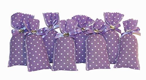 Handmade Design - Lavendelsäckchen - Duftsäckchen - mit echtem Lavendel (Duftsäckchen - Set - mit 8 x 10 g Lavendel, 6 x 11 cm)