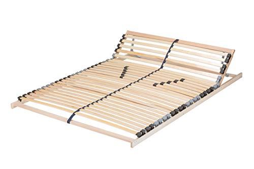 TAURO 22921 7-Zonen Lattenrost 140x200 cm | Geeignet für alle Matratzen | Kopfteil verstellbar | Komfort Lattenrost mit 28 Leisten