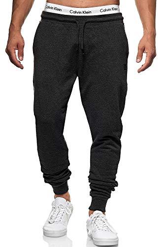 Indicode Pantalon de jogging Eberline pour homme en 95 % coton | Coupe droite Pantalon de jogging Pantalon de sport élastique pour homme Pantalon de jogging Pantalon de loisirs pour homme - Gris - W54