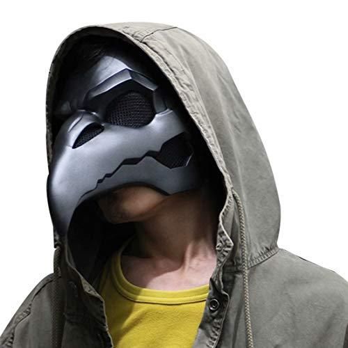 Overwatch Reaper - Mscara de cuervo para Halloween, cosplay de disfraces, PVC, mscara gtica steampunk