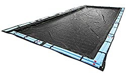 powerful Buffalo Blizzard Deluxe Winter Cover with 30'x50′ Rectangular Water Bag Kit …