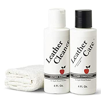 Apple Brand Leather Cleaner & Conditioner Kit - For Use On Leather Purses Handbags Shoes Boots & Accessories - Safe On All Colors