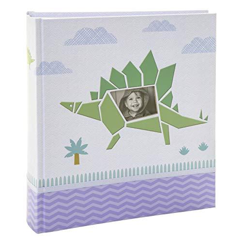 Kusso - Álbum de fotos personalizado para niños, diseño de dinosaurio verde, 200 fotos, 10 x 15 cm