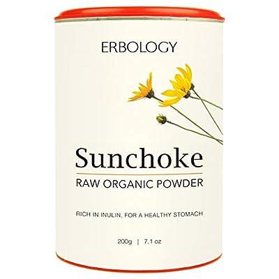 Organic Raw Jerusalem Artichoke Powder 200g - Rich in Inulin for Gut Health - Prebiotic - Gluten-Free - Non-GMO
