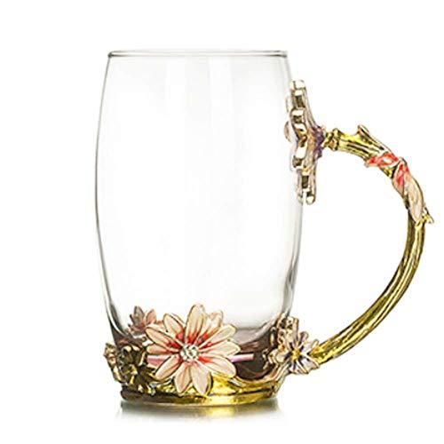 AICUP Schönheit Und Die Beste Neuheit Emaille Kaffeetasse Blume Tee Glas Tassen Für Heiße Und Kalte Getränke