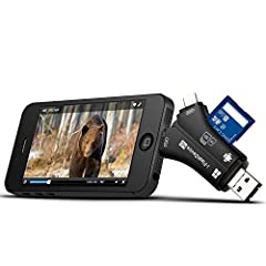 【Compatible Devices】 Four kinds of interfaces are supported; Almost all your devices are supported; IOS, Windows OS, Linux, Mac OS and Android are supported 【Compatible Cards】 Supporting TF (micro-SD) and SD memory card. Compatible with ALL trail cam...