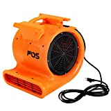 Goplus Air Mover, 1 HP 1750 CFM Lightweight Carpet Floor Dryer 3 Speed Blower Fan 115v/60hz 1HP 1200/1430/1640 RPM with 20' Cord, for Wet Carpets, Floors, Walls & Ceilings