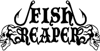 Hitada - 16CMx8.1CM Fish Reaper Skull Fishing Hooks Flame Car Boat Vinyl Decal Sticker Car Sticker Motorcycle Decorating Stickers