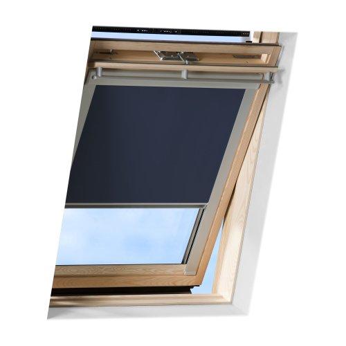 VICTORIA M Dachfensterrollo passend für Velux Dachfenster/verdunkelndes Rollo/GGL M06, dunkelblau